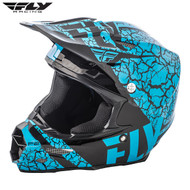 Fly 2018 F2 Carbon Fracture Adult Helmet (Lite Blue/Black)