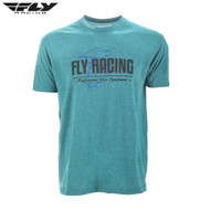 Fly Casual Adult Premium Tee (Era Cyan/Black Heather)