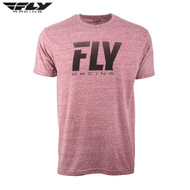 Fly Casual Adult Premium Tee (Logo Fade Wine Heather)