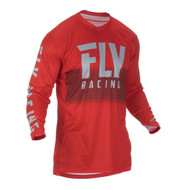 Fly 2019 Lite Hydrogen Adult Jersey (Red/Grey)