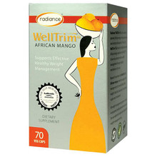 Radiance WellTrim iG African Mango is the authentic African Mango seed extract as featured on TV by Dr Oz. Research has shown that Welltrim iG African Mango, taken over a 10 week period, helps to reduce body weight, body fat and waist circumference. It was also shown to regulate fasting blood sugars and cholesterol. promotes healthy weight management through several mechanisms of action.