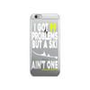 99 Problems iPhone Case (White/Yellow)