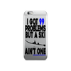 99 Problems iPhone Case (Black/Blue)