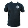 Vintage Badge Tee (Charcoal Grey) - Front Print Only