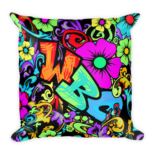 Graffiti Girl Pillow