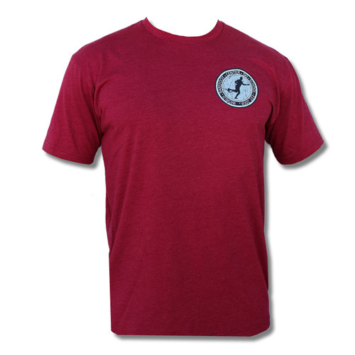 Vintage Badge Tee (Cardinal Red) - Front Print Only