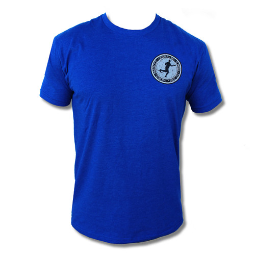 Vintage Badge Tee (Royal Blue) - Front Print Only