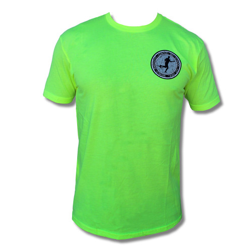Vintage Badge Barefoot Waterskier Tee (Neon Yellow)