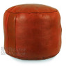 Dark Orange Tabouret Fez Pouf
