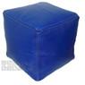 Blue Square Moroccan Pouf