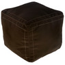 Chocolate Square Moroccan Pouf