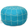 Arch Designed Turquoise Pouf
