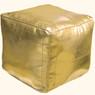 Gold Square Moroccan Pouf