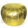 Metallic Gold Moroccan Pouf