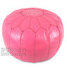 Dark Pink Moroccan Leather Pouf