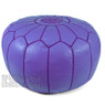 Lilac Moroccan Leather Pouf