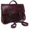 Handmade Leather Briefcase in Chocolate