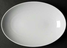Thomas Loft White Platter Oval 10 1/2""