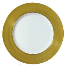 "Richard Ginori Charger Plate 2"" Gold Rim 12.20"""