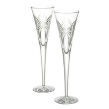 Waterford Wishes Anniversary Toasting Flutes Pair