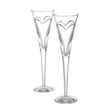 Waterford Wishes Love & Romance Toasting Flutes Pair