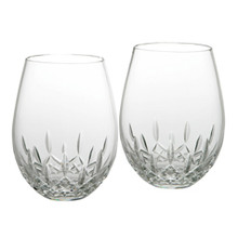 Lismore Nouveau Barware Deep Red Stemless Wine Glass Pair