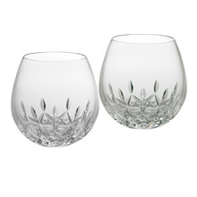 Lismore Nouveau Barware Light Red Stemless Wine Glass Pair