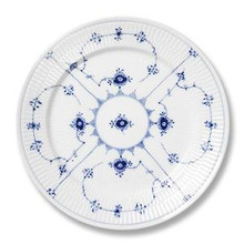 "Royal Copenhagen Blue Fluted Plain Salad/Dessert Plate 7.5"" (1101620)"