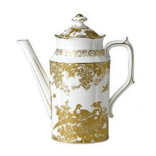 Royal Crown Derby Gold Aves Coffee Pot 1.14 Ltr.