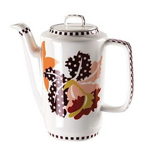 Missoni Tropical Bone China Coffee Pot W/ Lid 35 1/4 Oz