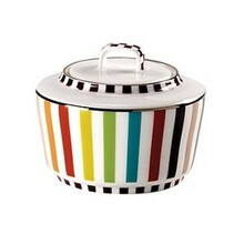 Missoni Tropical Bone China Sugar Bowl W/ Lid 8 3/4 Oz