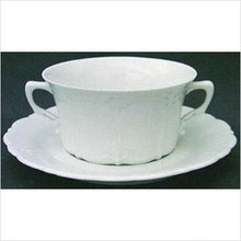 Rosenthal Baronesse White Cream Soup Cup 9 Oz  & Saucer 6 1/3""