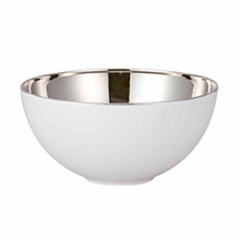 "Rosenthal TAC 02 Skin Platinum Open Vegetable Bowl 13 3/4"" 135 Oz"