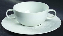 Rosenthal Magic Flute White Cream Soup Cup 12 oz. & Saucer  7 1/4""