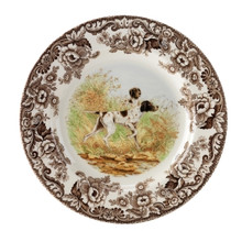 "Spode Woodland Hunting Dogs Flat Coated Pointer Dinner Plate 10.5"" (Set of 4)"