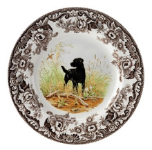 "Spode Woodland Hunting Dogs Black Labrador Dinner Plate 10.5"" (Set of 4)"