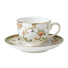 Wedgwood Oberon Flora Leigh Teacup & Saucer Set of 2