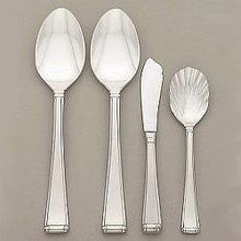 Gorham Stainless Steel Column Frosted 4 Piece Serving Set