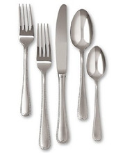 Gorham Stainless Steel Ribbon Edge Frost 5 Piece Place Setting