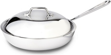 "Stainless Steel French Skillet 11"" With Domed Lid"