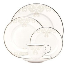 Lenox Opal Innocence scroll 5 Piece Place Setting