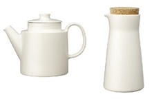 Iittala Teema White Milk Jar & Teapot Set