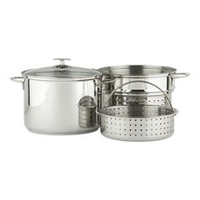 Multi-Cooker 12 Qt. w/ Lid (Stainless/Aluminum Disc Bottom)