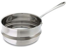 "Stainless Steel Universal Double Boiler 3 Qt. (fits 8"" diameter pans excluding saute pans and Copper-Core)"