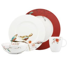 Lenox Chirp 4 Piece Place Scarlet Setting