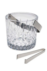 "Hamilton Ice Bucket with Tongs, 6""H."