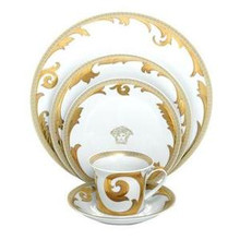 Versace Arabesque Gold 5 Piece Place Setting