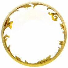 Versace Arabesque Gold Rim Soup Plate 9.5""