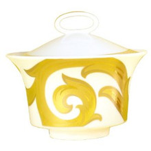 Versace Arabesque Gold Sugar Bowl, Covered 7oz