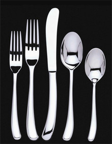 Ginkgo Helmick Premier Sea Drift Stainless Steel Hollow Handle 20 Piece Place Setting = 4 x 5 Piece Place Setting
